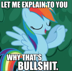 And this is why Rainbow Dash is 20% cooler than you.